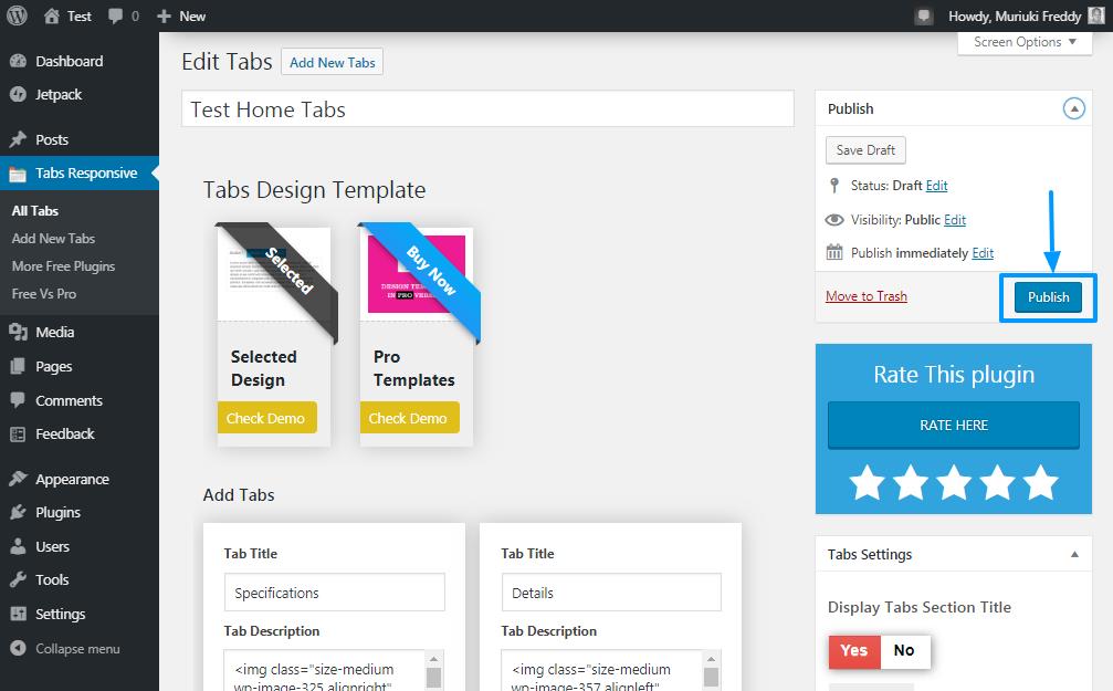 Cách thêm tab vào bài viết và trang WordPress 2