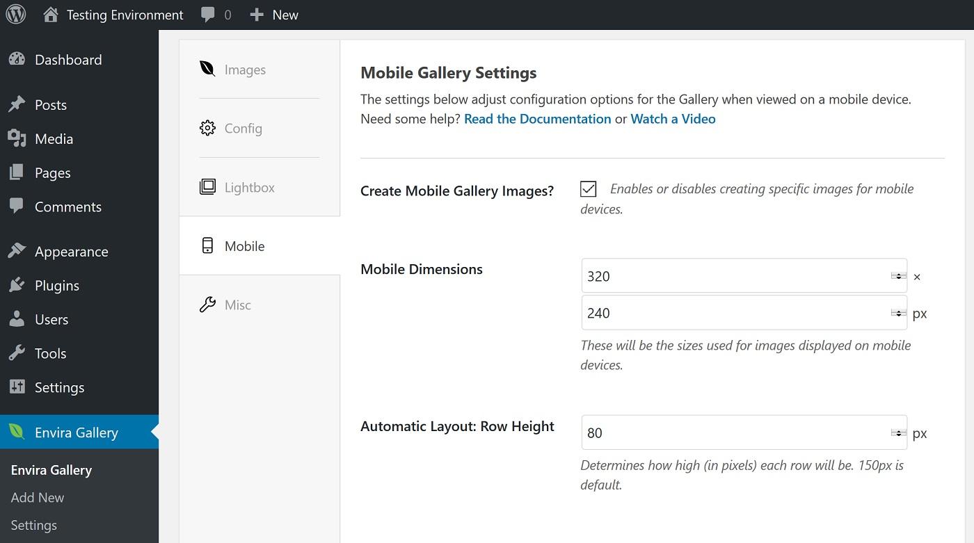 Mobil quraşdırma ekranının ekran görüntüsü