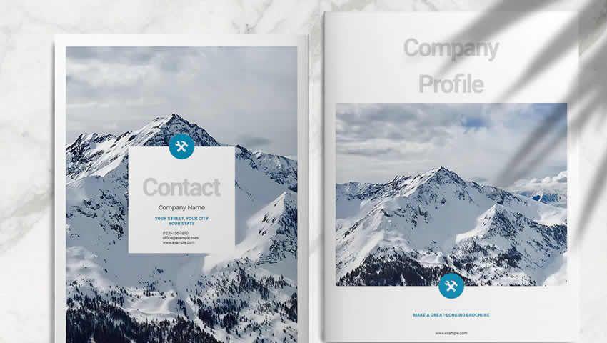 Thiết kế brochure doanh nghiệp màu xanh