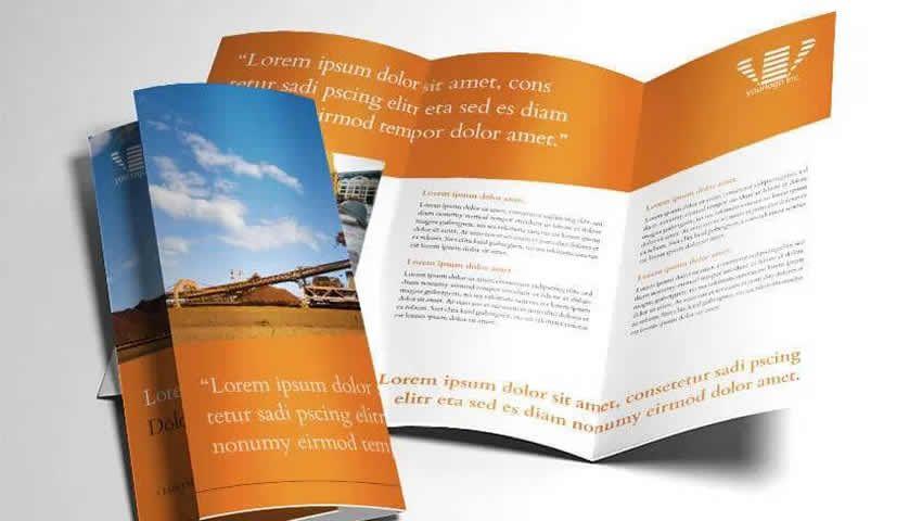 Mẫu brochure thiết kế nội thất