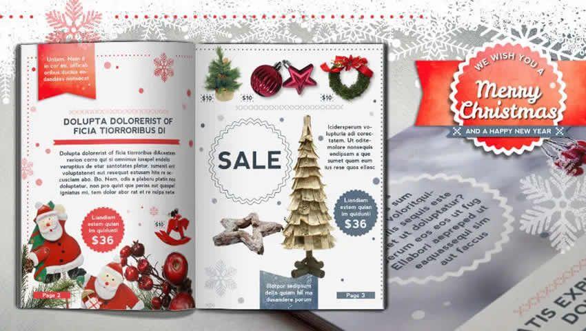 Giáng sinh retro mẫu brochure