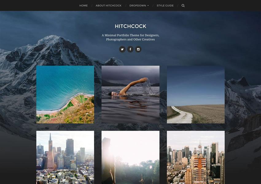 Hitchcock Portfolio Designer WordPress Theme Free Inbound Portfolio Photographer Wp Camera