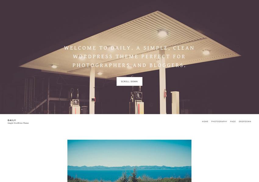 Portafolio receptivo diario gratuito del tema de WordPress para wp camera camera