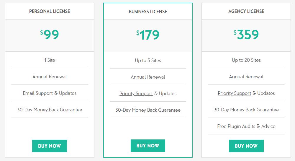 Tabla de precios de productos de Woocommerce