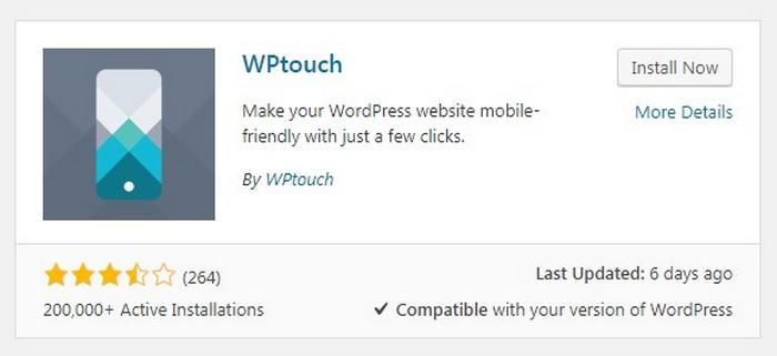 Errores de WordPress - WP TOUCH