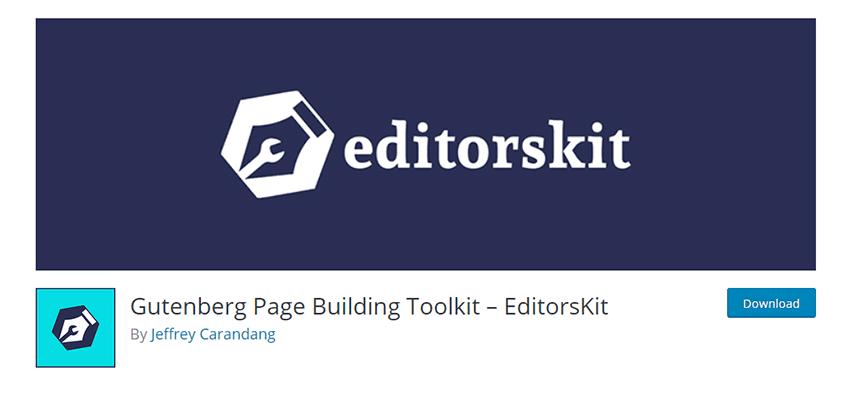 Biểu ngữ cho Bộ công cụ tạo trang Gutenberg - EditorsKit