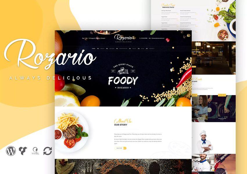 Rozario wordpress chủ đề ẩm thực nhà hàng ẩm thực lối sống ẩm thực