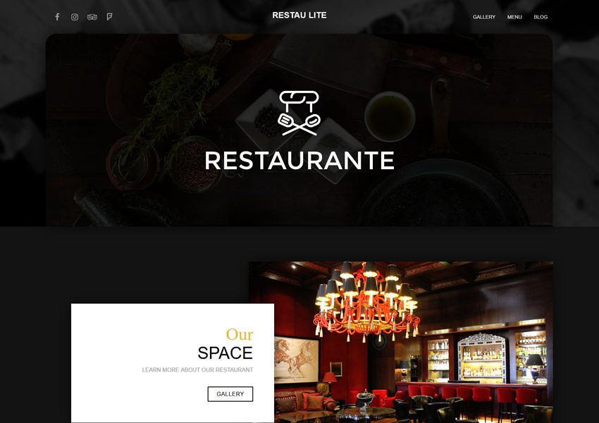 Restau Lite miễn phí chủ đề wordpress wp đáp ứng thực phẩm nhà hàng ẩm thực lối sống ẩm thực