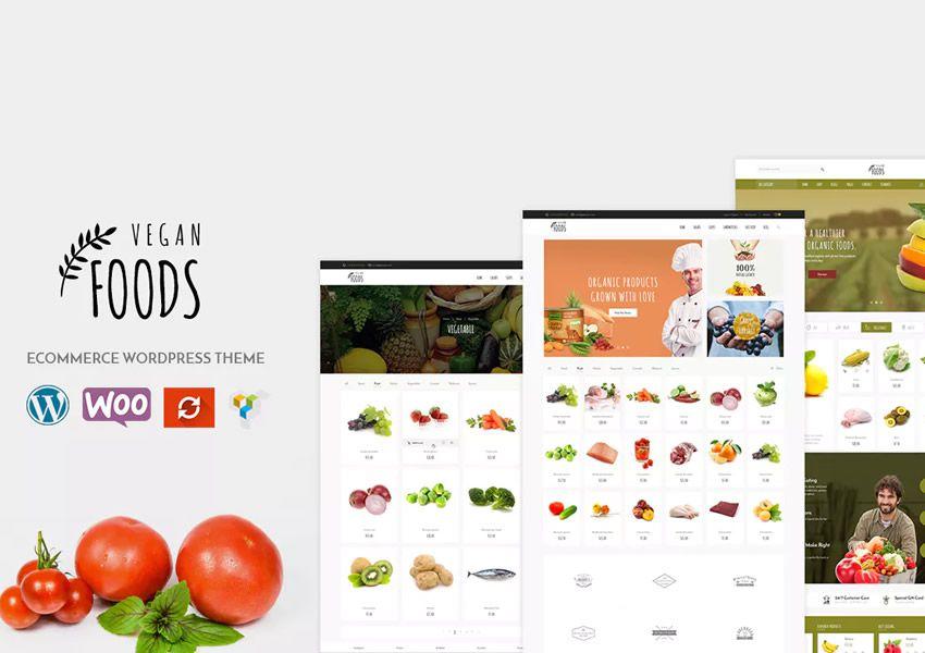 Vegan Organic Store WooCommerce wordpress chủ đề ẩm thực nhà hàng ẩm thực lối sống ẩm thực
