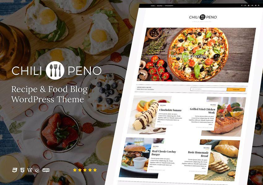Chilipeno Recipe wordpress chủ đề ẩm thực nhà hàng ẩm thực lối sống ẩm thực