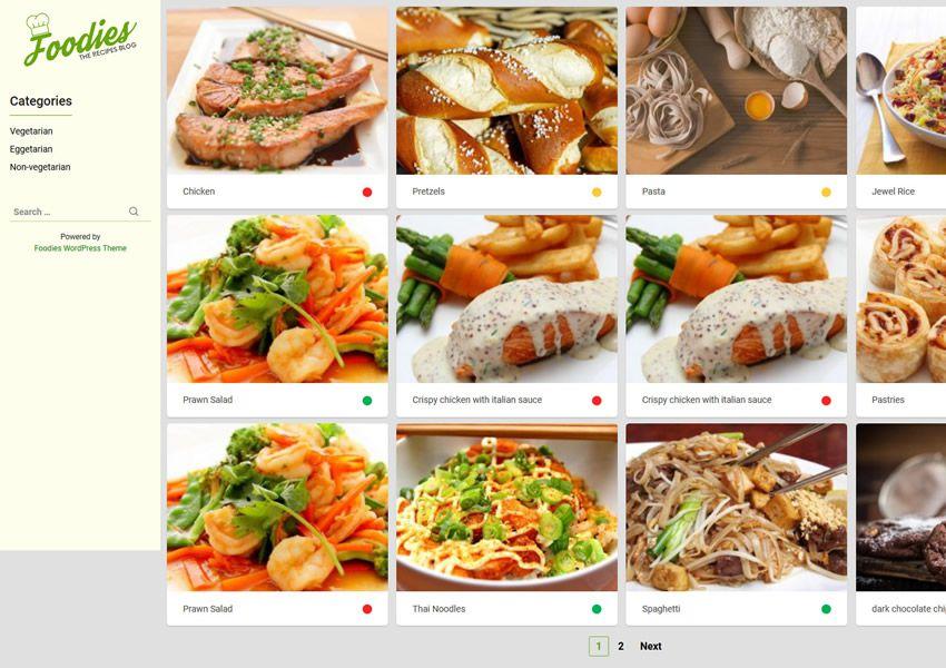 Foodies miễn phí chủ đề wordpress wp đáp ứng thực phẩm nhà hàng ẩm thực lối sống ẩm thực