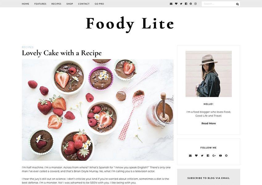 Foody Lite wordpress theme wp đáp ứng thực phẩm nhà hàng ẩm thực lối sống ẩm thực