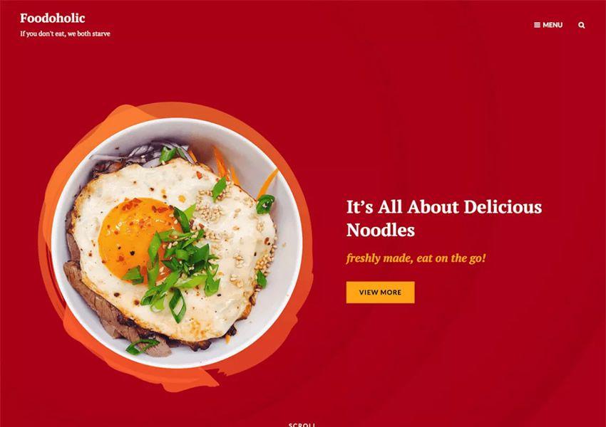 Foodoholic wp miễn phí chủ đề WordPress đáp ứng thực phẩm nhà hàng ẩm thực lối sống ẩm thực