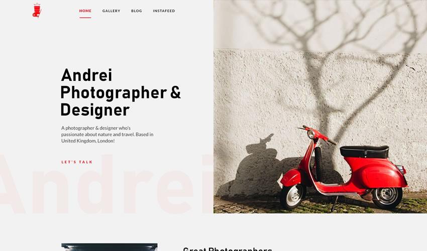 Trang đích nhiếp ảnh gia danh mục đầu tư máy ảnh trang web thiết kế web cảm hứng ui ux