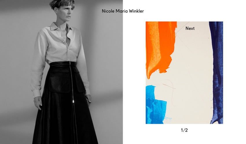 Nicole Maria Winkler nhiếp ảnh gia danh mục đầu tư webcam thiết kế web cảm hứng ui ux
