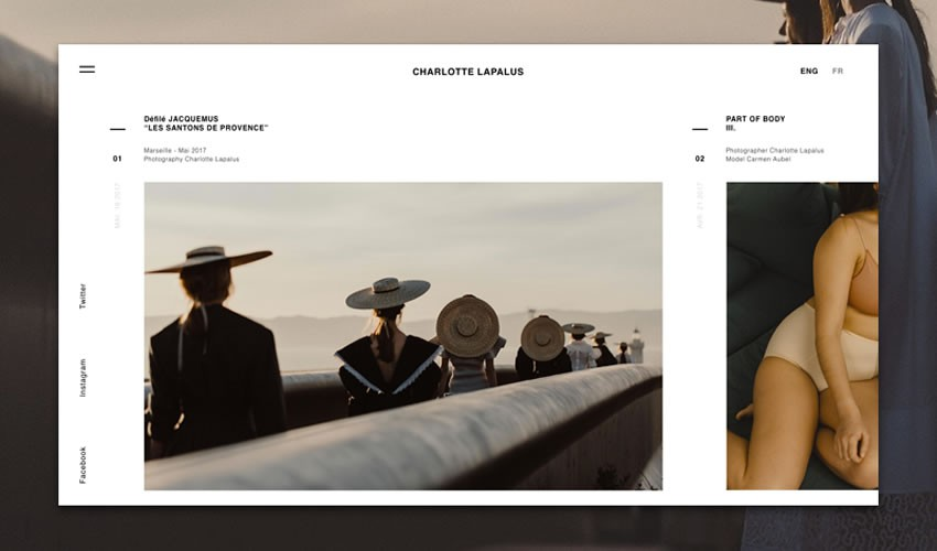 nhiếp ảnh gia danh mục đầu tư camera trang web thiết kế web cảm hứng ui ux