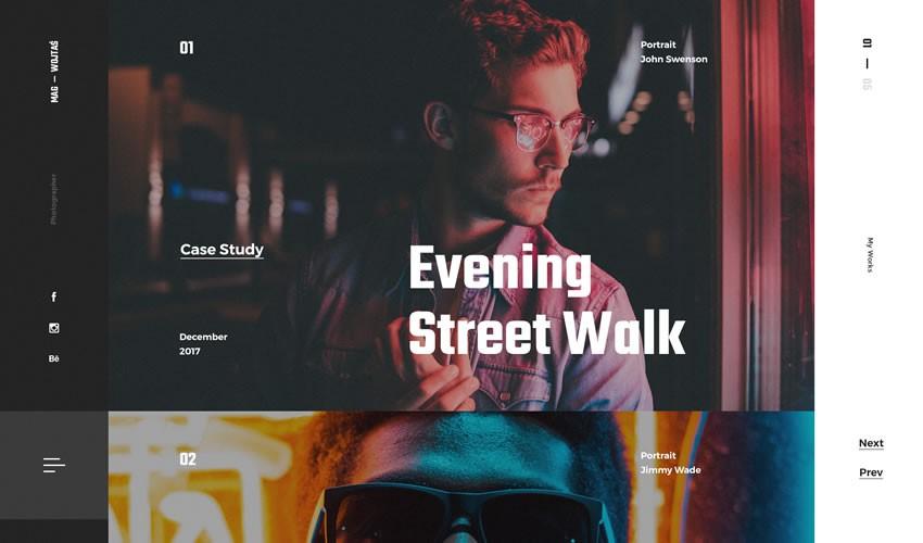 Web portfolio nhiếp ảnh gia danh mục đầu tư máy ảnh trang web thiết kế web cảm hứng ui ux