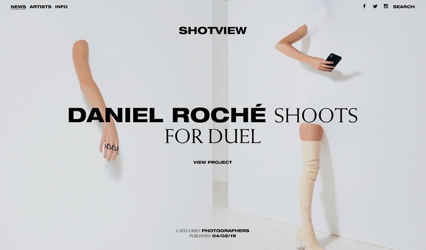 Shotview nhiếp ảnh gia danh mục đầu tư máy ảnh trang web thiết kế web cảm hứng ui ux
