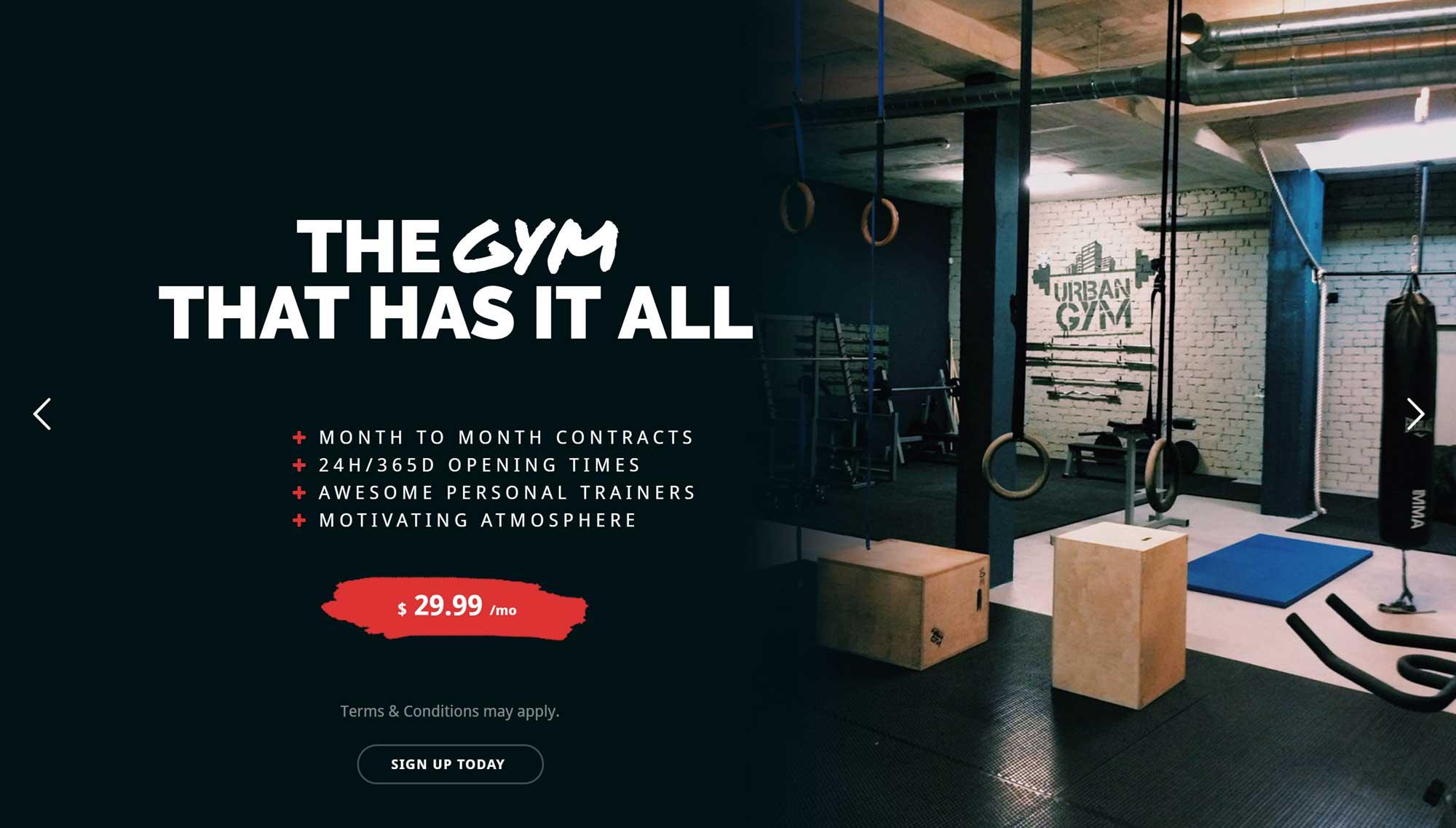Bản demo của trang web Total Gym