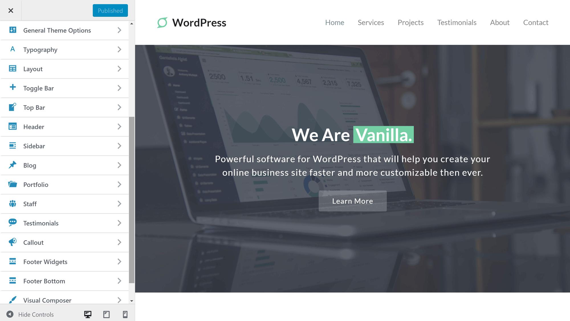 Giao diện tùy biến WordPress