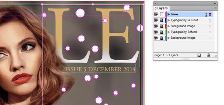 Navrhnite kryt časopisu InDesign Fashion