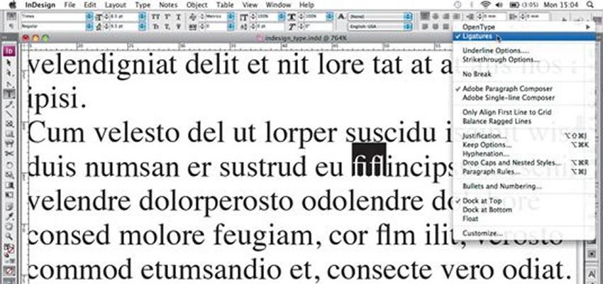 Práca s typom v aplikácii InDesign