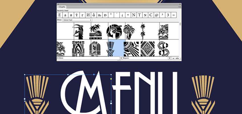 Ako používať panel InDesignu glyfov