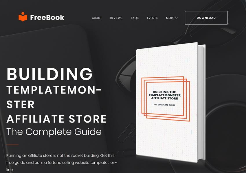 FreeBook Ebook Landing Pag responzívne wp zadarmo wordpress tému posúvať stránku po stránke