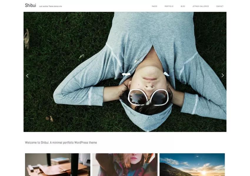 Shibui Minimalist chủ đề wordpress miễn phí wp đáp ứng sáng tạo thiết kế cơ quan danh mục đầu tư máy ảnh