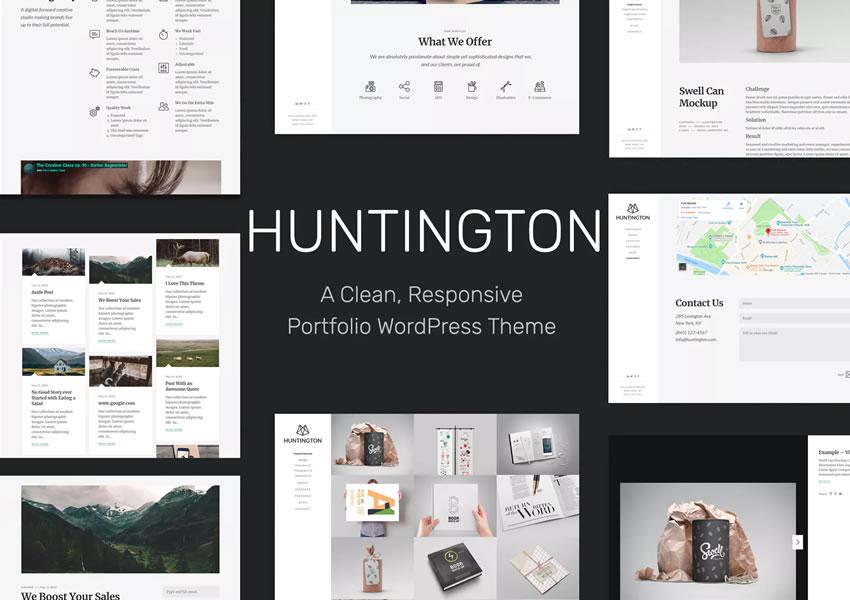Huntington Responsive WordPress Theme Creative Designer Agency Danh mục đầu tư Camera