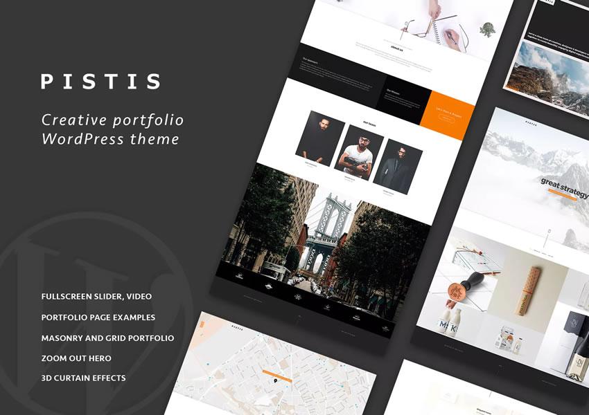 Pistis wordpress chủ đề thiết kế sáng tạo cơ quan danh mục máy ảnh