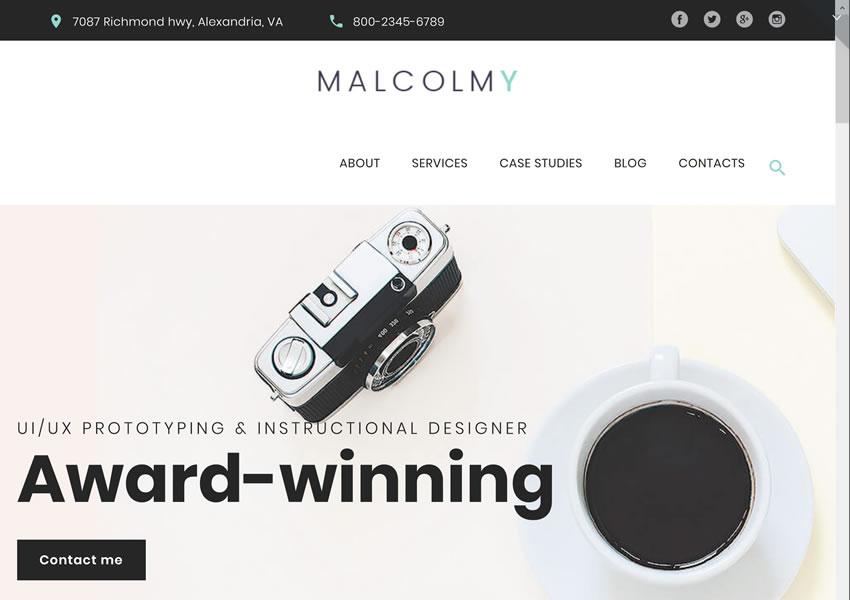 MalcomY Freelance Designer miễn phí chủ đề wordpress đáp ứng sáng tạo cơ quan thiết kế danh mục đầu tư máy ảnh wp