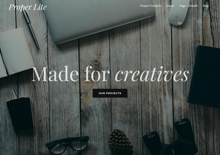 Đúng Lite chủ đề wordpress miễn phí wp responsive camera thiết kế danh mục cơ quan sáng tạo
