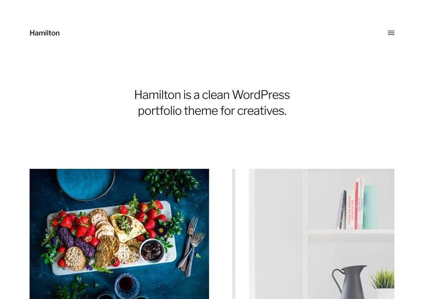 Hamilton miễn phí chủ đề wordpress wp đáp ứng thiết kế cơ quan danh mục thiết kế sáng tạo