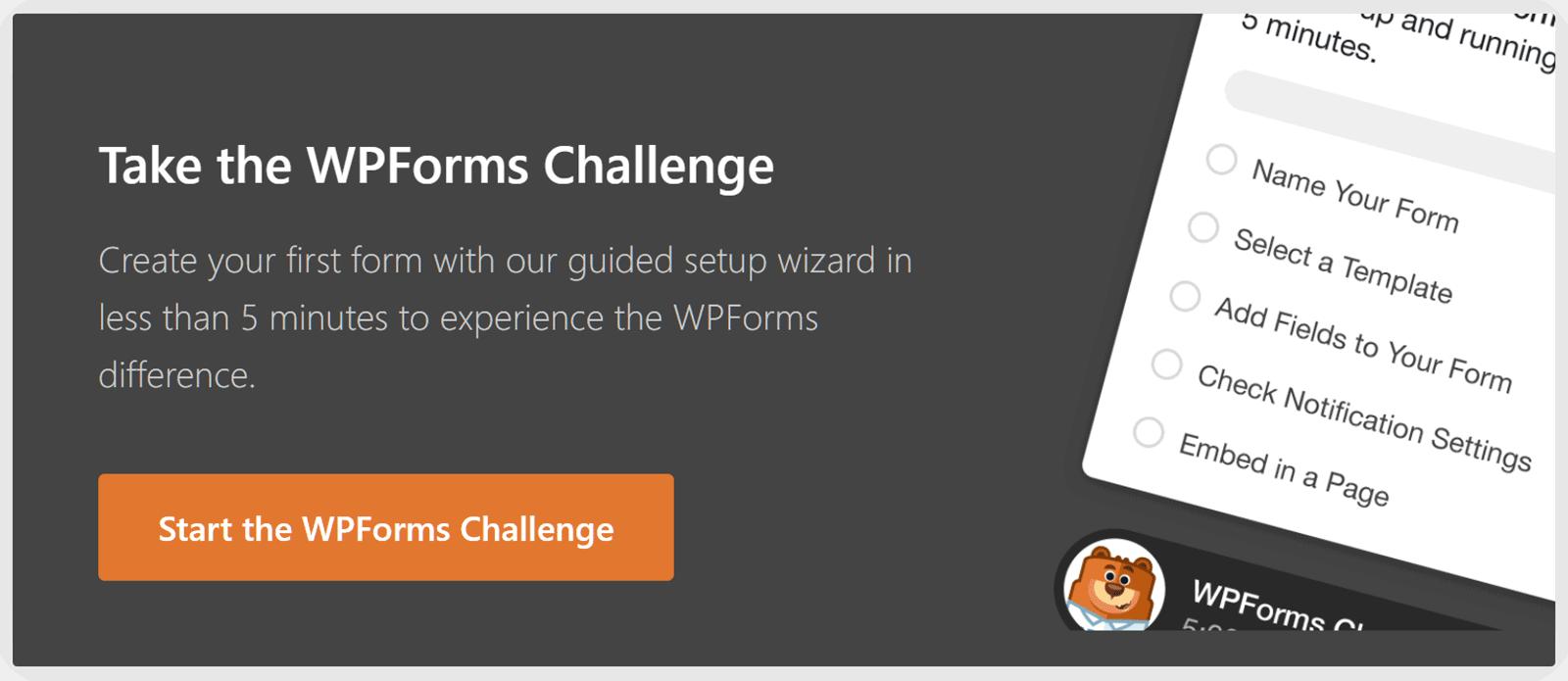 WPForms Tez Başlanğıc Çağırışı