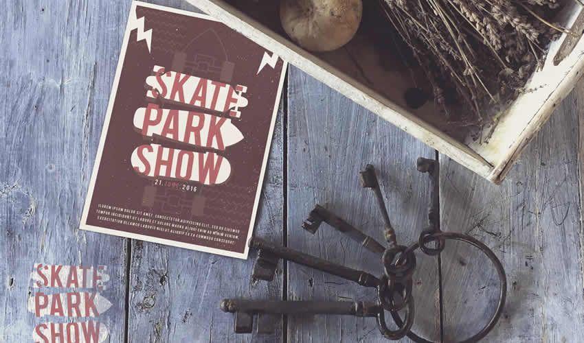 Vintage Black Keys độ phân giải cao poster mockup mẫu flyer có thể chỉnh sửa photoshop psd miễn phí