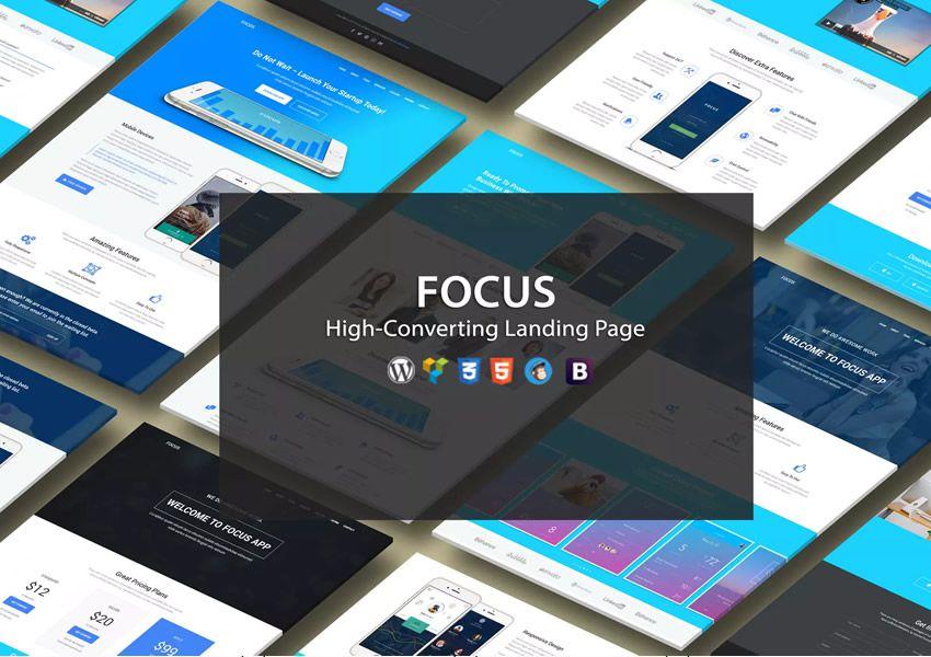 Vysoké zameranie cieľovej stránky na vstupnú stránku WordPress s vysokým zameraním