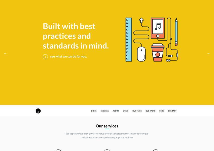 OneEngine One-Page free WordPress téma wp responzívne vstupné stránky podnikania