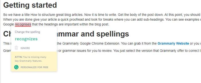 Böyük blog məqalələrini necə qurulacaqsınız - Grammarly
