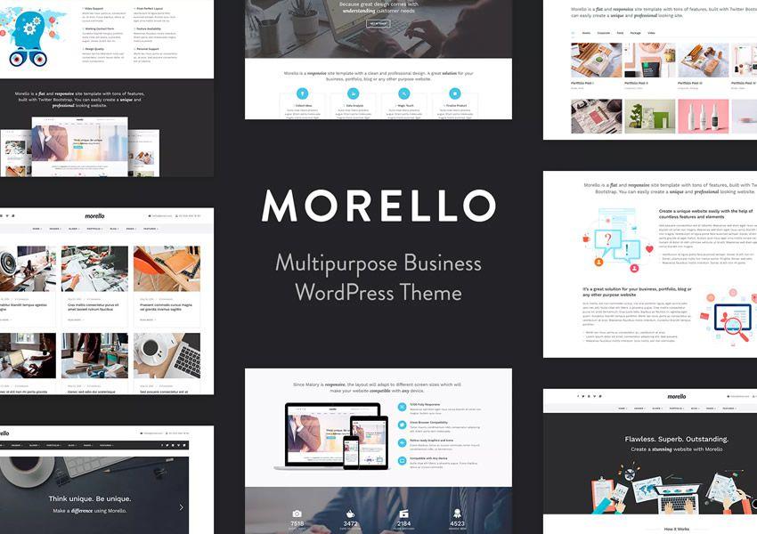 Morello Viacúčelová téma firemné podnikanie wordpress