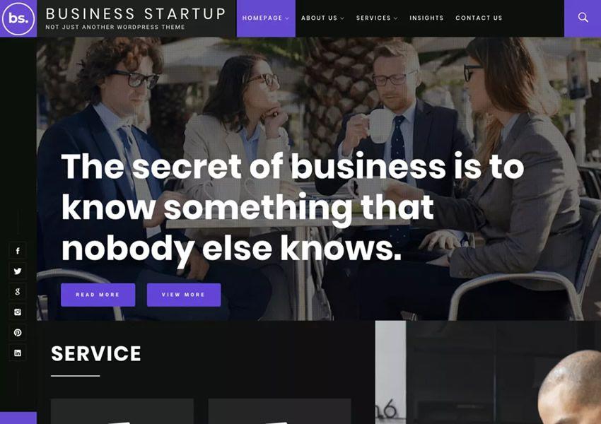 Business startup free wordpress theme wp responzívne obchodné spoločnosti
