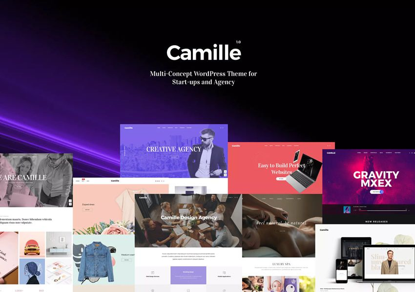 Camille Multi-Concept WordPress firemné obchodné tému