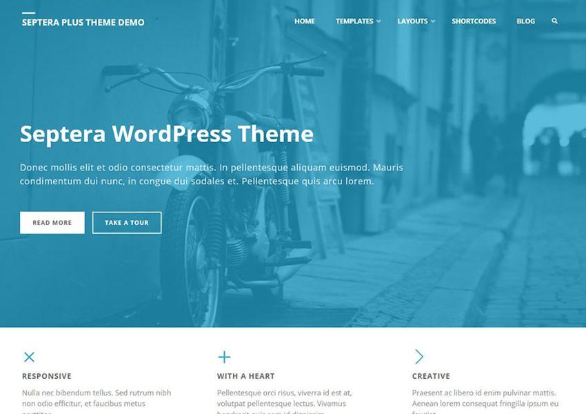 Septera Zdarma viacúčelové wordpress tému wp responzívne obchodné spoločnosti