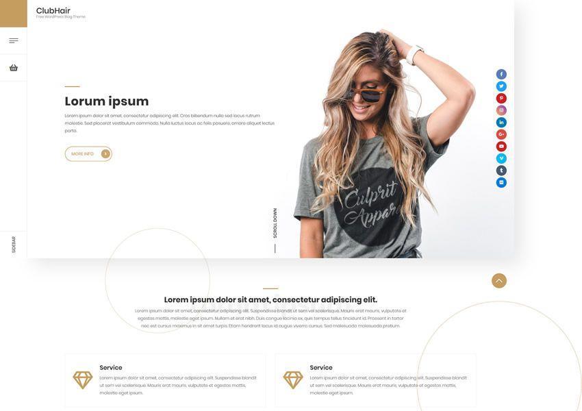 Voľný ClubHair wp responzívne obchodné firemné WordPress tému