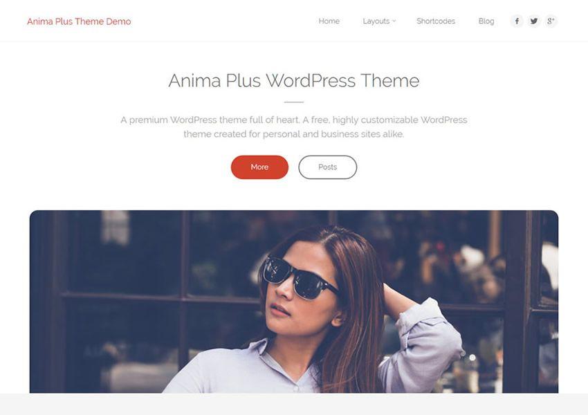 Anima Vysoko prispôsobiteľná bezplatná téma WordPress wp responzívna obchodná spoločnosť