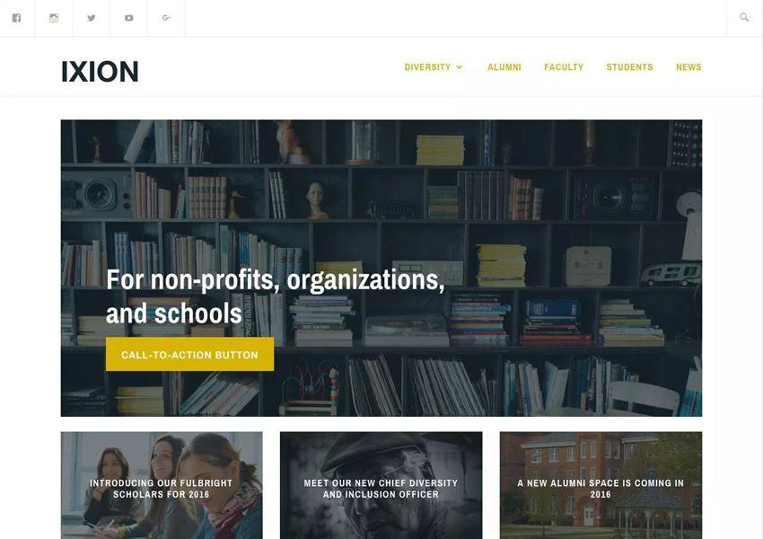 Zadarmo ixion wordpress tému wp responzívne firemné podnikanie