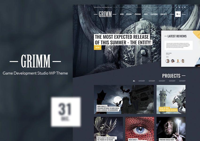 Game Studio zadarmo wordpress tému wp responzívne obchodné spoločnosti