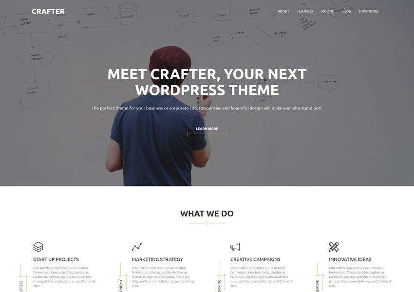 Crafter zadarmo wordpress tému wp responzívne obchodné spoločnosti