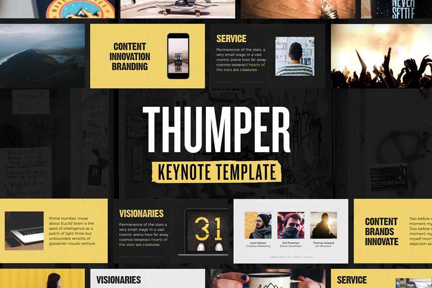 Thumper - pulsuz təqdimat şablonu