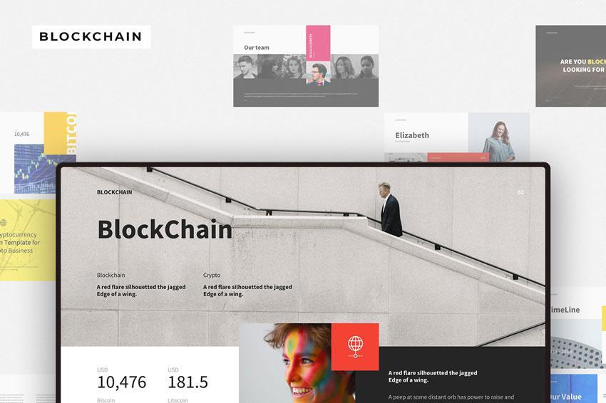Blockchain - pulsuz açar təqdimat şablonu